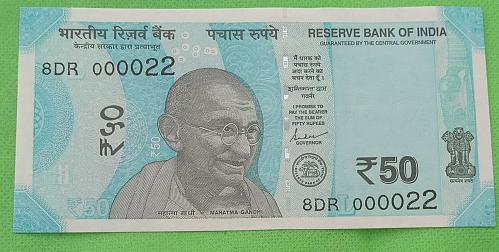 2019...8DR 000022.. UNC India note