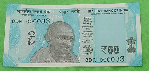2019...8DR 000033.. UNC India note