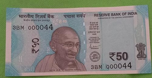 2019...3BM 000044.. UNC India note