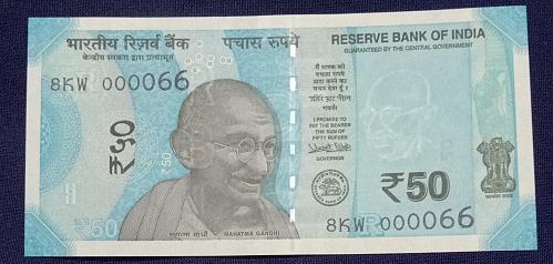 2019....8KW  000066.. UNC India note