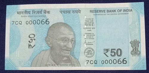 2019....7CQ  000066.. UNC India note