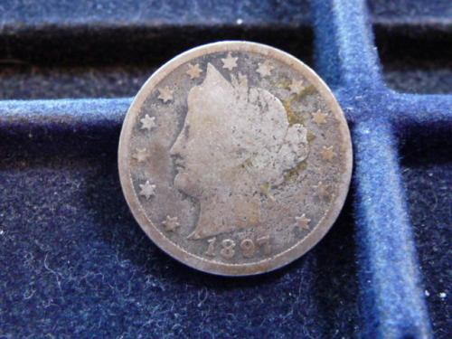 1897-P  LIBERTY NICKEL IN VERY GOOD CONDITION  L-14-20