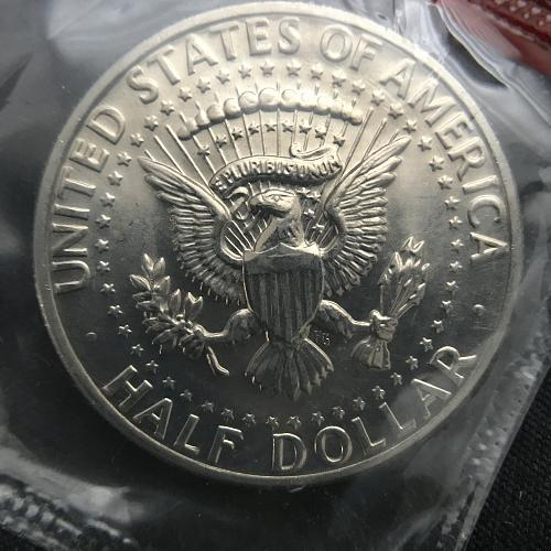 1972 D Uncirculated Clad Kennedy Half Dollar--In Cello (1214-1)