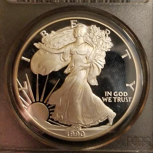 1990 S American Silver Eagle PCGS Proof 70 DCAM