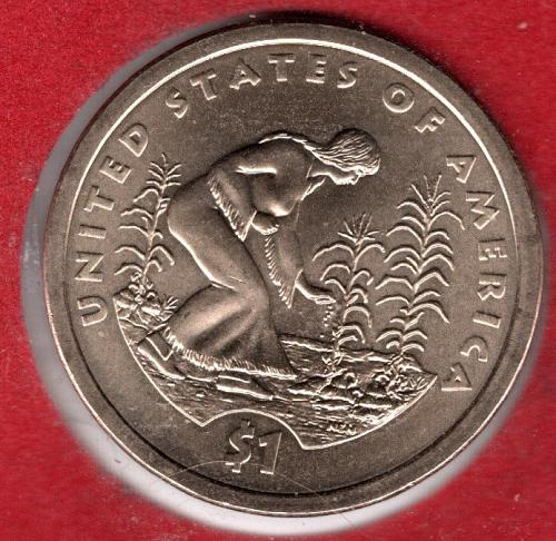 2009 D Sacagawea Dollars: Spread of Three Sisters Agriculture - #4a