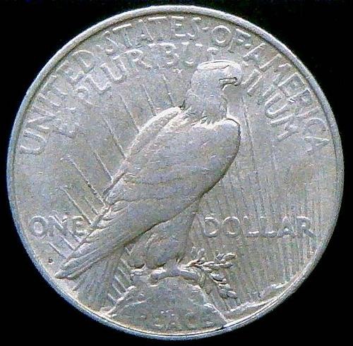 1922 Peace Dollars : Normal Relief Early Silver Dollars  V2P8R3