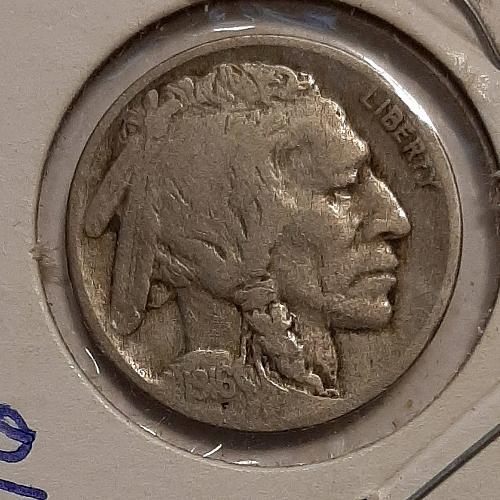 1916 P Buffalo Nickel F