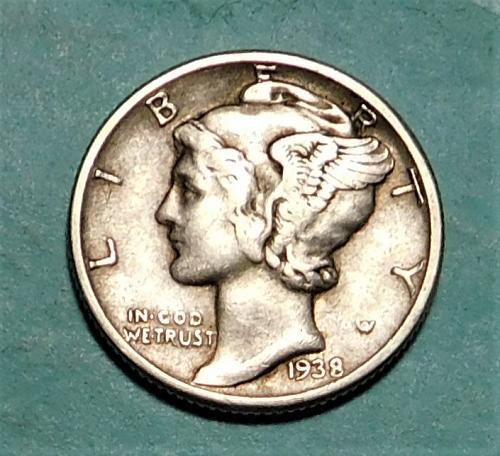 1938 P MERCURY DIME