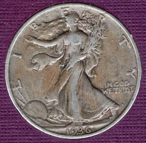 1936 P Walking Liberty Half Dollars -#4a