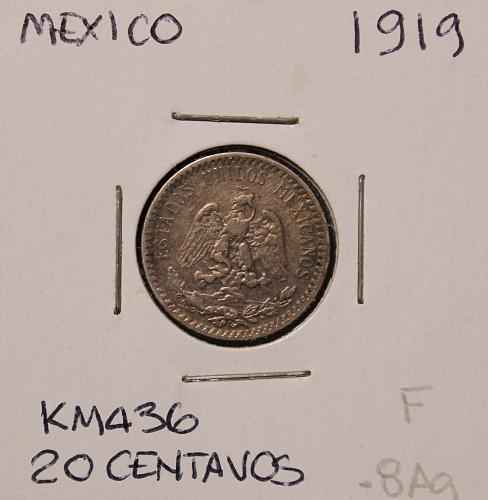 Mexico 1919 20 centavos