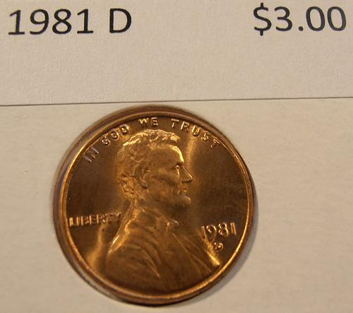 1981 D LINCOLN CENT, BU from a nice roll