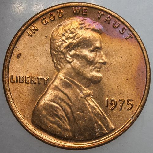 1975 P Lincoln Wheat Cent#5 Nicely TONED