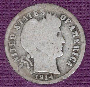 1914 P Barber Dimes -#4a