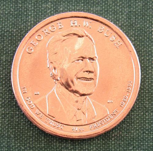 2020D George Bush Presidential Dollar