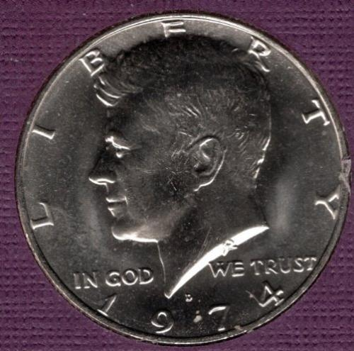 1974 D Kennedy Half Dollars -#4a