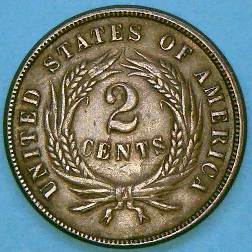 1865 Two Cents Two Cent Pieces  V2P9R1