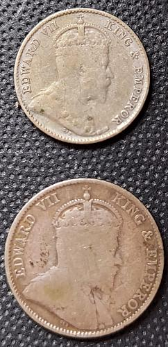 Straits Settlements Kg EWd Vll 5 & 10 Cents 1910
