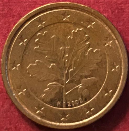 Germany 2002 F - 1 Euro Cent [F - Stuttgart Mint - #2]