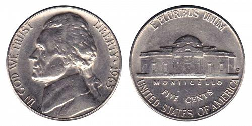 1963-D JEFFERSON NICKEL IN UNC CONDITION  L-18-20