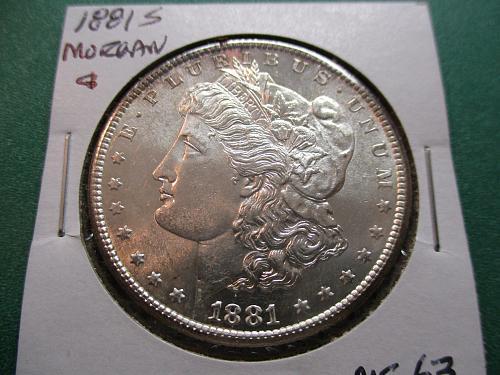 1881-S  MS63 Morgan Dollar.  Item: DM 81S-07.