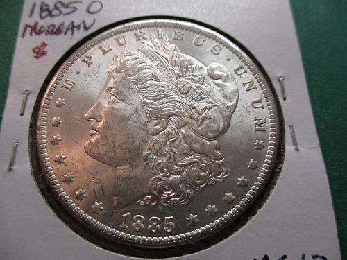 1885-O  MS62 Morgan Dollar.  Item: DM 85O-10.