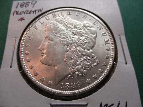 1889  MS61 Morgan Dollar.  Item: DM 89-07.