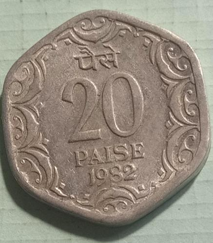 20).....India used Extra fine coin....1982