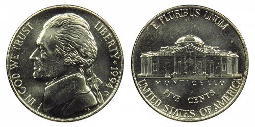 1994-D JEFFERSON NICKEL FROM MINT SET IN CELLO (STOCK PHOTO) L-20-20