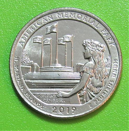 2019-D 25 Cents - American Memorial Park Northern Mariana Islands National Park