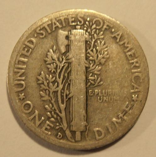 1937 D Mercury Silver Dime (37DEW2)