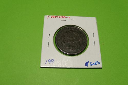 1837 Head of 38 Large Cent  VF20  #1-1837H38-1