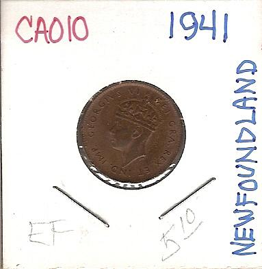 1941 Canada Newfoundland One Cent