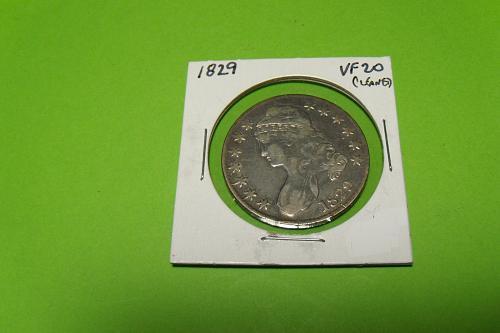 1829 Capped Bust Half Dollar  VF20  #50-1829-1