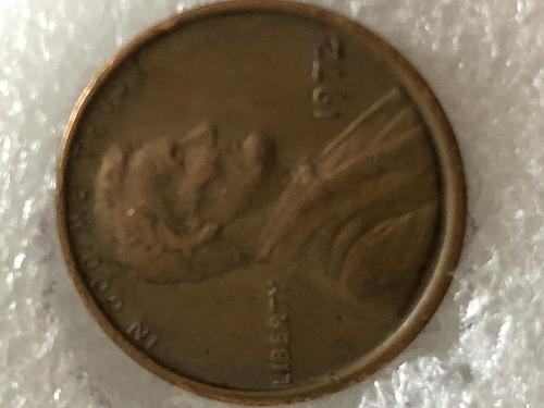 1972 cent Lincoln memorial double die obverse