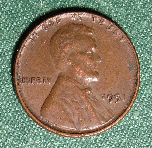 1951P Wheat Back Lincoln Cent