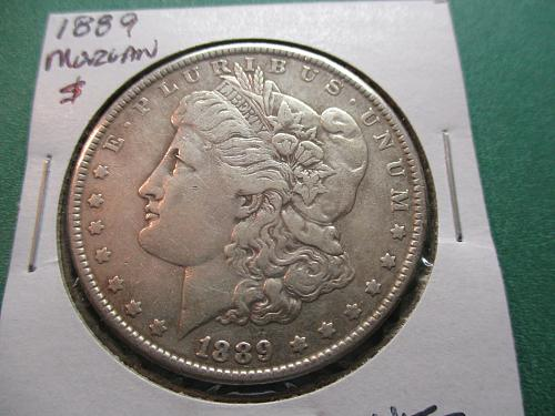 1889  VF20 Morgan Dollar.  Item: DM 89-08.