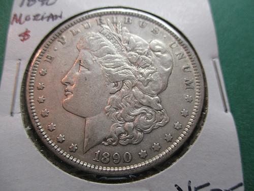 1890  VF25 Morgan Dollar.  Item: DM 90-10.