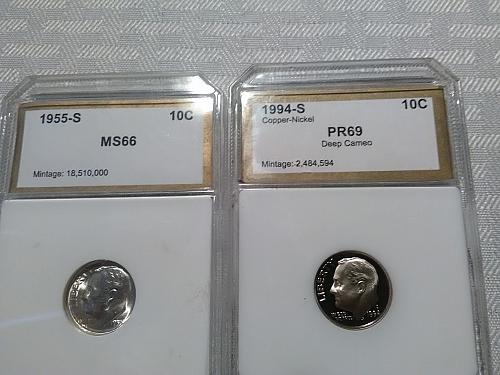 10 coin lot of PCI graded coins high retail value of $180.00 now $54.50 w/ free