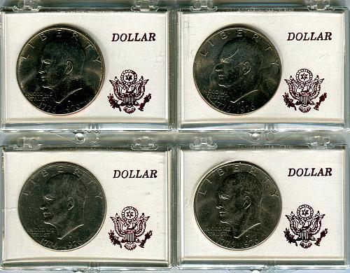 4 - 1976 - D  Bicentennial EISENHOWER Dollar   AU