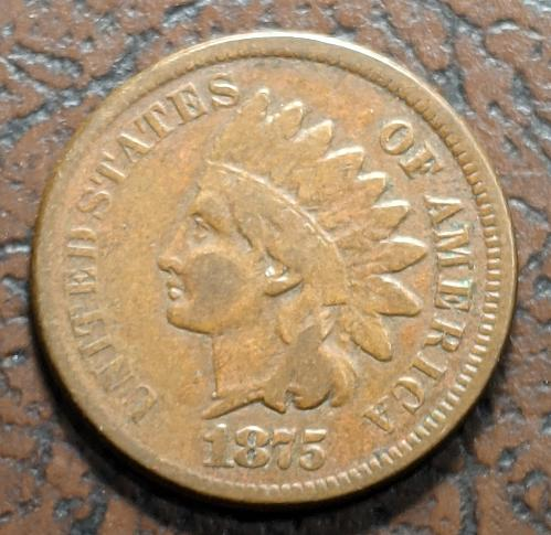 1875 VERY GOOD/FINE INDIAN CENT