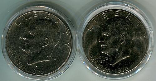 1976 - D  Bicentennial   EISENHOWER Dollar   EF - AU