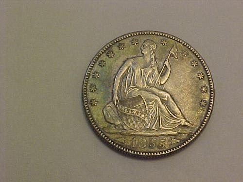 1855 O SEATED LIBERTY HALF DOLLAR    af31