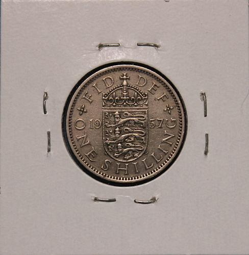 Great Britain 1957 shilling