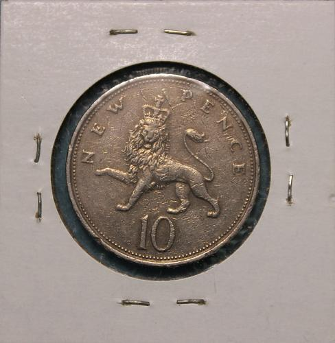 Great Britain 1974 10 new pence