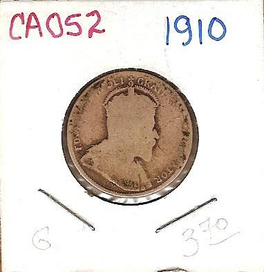 1910 Canada Twenty Five Cent