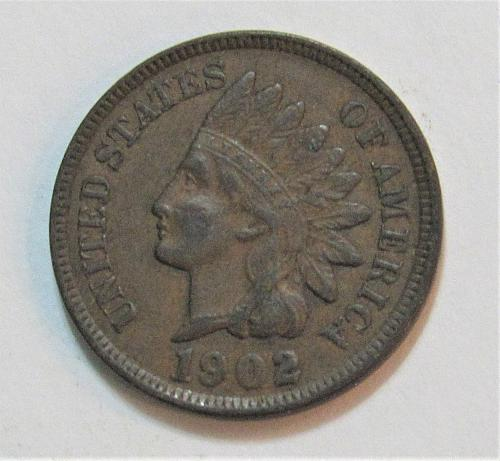 1902 1 Cent - Indian Head Cent - Liberty is Readable on Headband