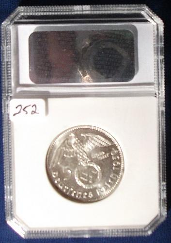 1939G Germany/Third Reich 5 Reichsmark PCI MS63