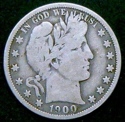 1900 O Barber Half Dollars Early Silver Half Dollars   V2P11R2