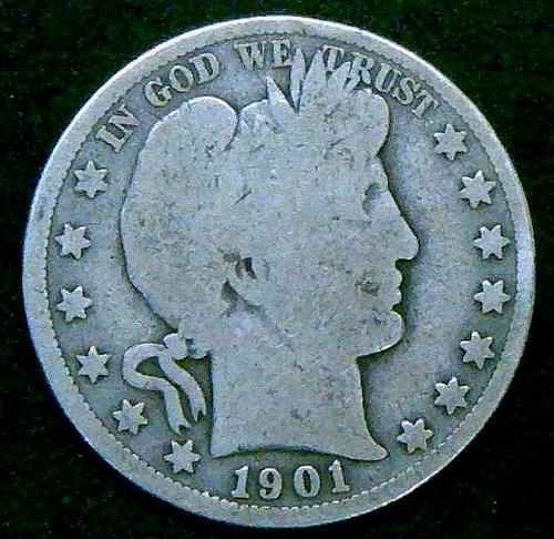 "1901 S Barber Half Dollars Early Silver Half Dollars ""Rare Date"" V2P11R3"