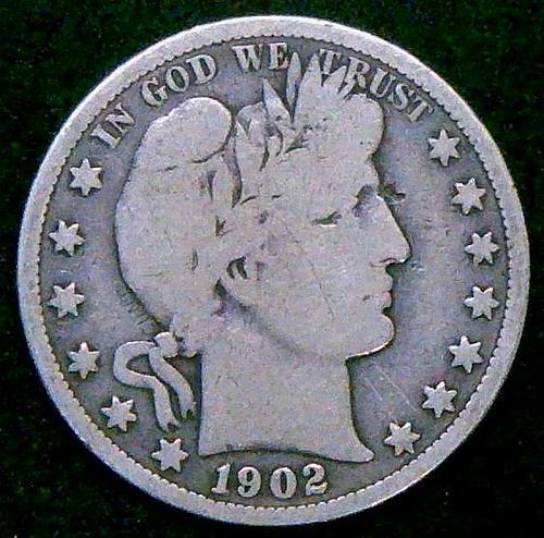 1902 O Barber Half Dollars Early Silver Half Dollars    V2P11R3